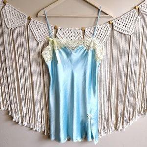 Victorias Secret Blue Intimate Lingerie Slip Dress